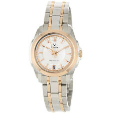 Bulova Women's 98M106 Precisionist Rose Gold and Silver Tone Dress Watch