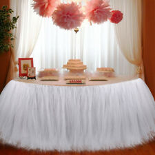 2 pcs TUTU Table Skirt Tableware Baby Shower Birthday Wedding Party Home Decor