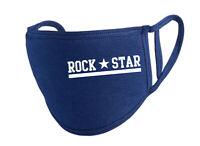 ROCK STAR WHITE Behelfs-Mund-Nasen-Maske, navy