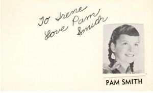 Pam Smith signed vintage card!  Child Actress!  Leave it to Beaver!