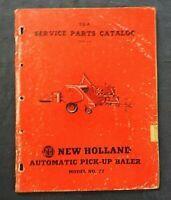 "1956 NEW HOLLAND ""MODEL 77 AUTOMATIC PICK-UP BALER"" PARTS CATALOG MANUAL"
