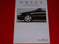 OPEL IRMSCHER Omega B Limousine Caravan Tuning Zubehör Prospekt von 1997