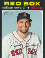 Nathan Eovaldi 2020 Topps Heritage #140 Boston Red Sox baseball Card