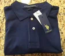 U.S. Polo Association Blue Polo with Red Logo Mens Small Short Sleeve NWT