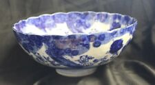 Meiji Japan Arita Imari Karako Blue White Porcelain Bowl