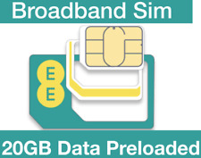 EE 4G Trio SIM Card Preloaded with and 10GB Data