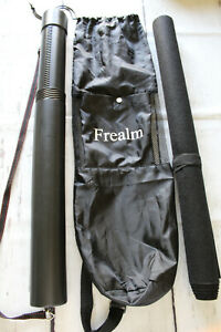 """Jigsaw Puzzle Felt Roll Up Storage Mat 41""""x25"""" Carrying Tube Traveling Clean Up"""