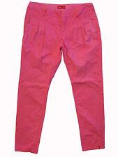 EDC Esprit mid-rise PINK pleat-front cotton pants Eur38 10x29 great condition!