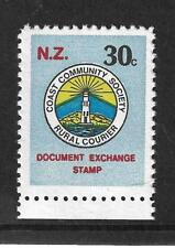 COAST COMMUNITY SOCIETY RURAL COURIER 1988 NEW ZEALAND LOCAL STAMP,LIGHTHOUSE