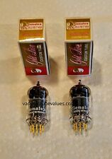GENALEX New PAIR TWO  Gold Lion NIB 12AU7 ECC82 B749 Tubes Gold Pin