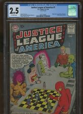Justice League of America #1 CGC 2.5 DC 1960 Superman Batman Flash! G8 321 cm