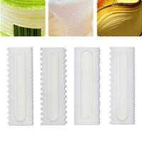 Cake Decorating Comb Icing Smoother Cake Scraper Pastry Designs Baking Tool W9H4