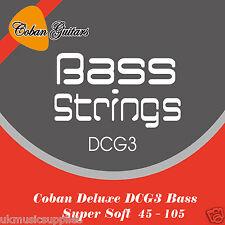 Coban guitarras Mejor Bajo Eléctrico Guitarra Cuerdas Deluxe DCG3 045 - 105 mejorado