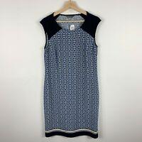 Jacqui E Womens Dress Medium Textiles Sleeveless Round Neck