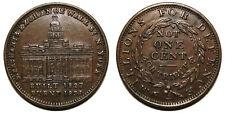 Merchants Exchange Wall St. New York Not One Cent Hard Times Token (1837)