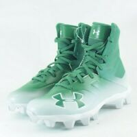 Under Armour Highlight  Green White Football Cleats 3000195-300  Size Youth 2.5