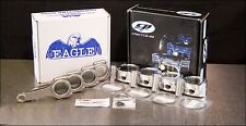 CP 75.5MM 9.0:1 CR HONDA D16Z6 PISTONS WITH EAGLE H-BEAM CONNECTING RODS KIT