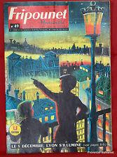 Fripounet Marisette Coeurs Vaillants  N° 49 du  6 DECEMBRE 1962 bon etat