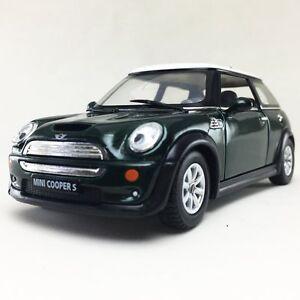 "New 5"" Kinsmart Mini Cooper S Diecast Model Toy Car 1:28 Green"