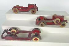 Hubley Cast Iron Parts and Car Tires TakeApart Chassis RARE Champion Airflow
