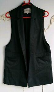 River Island Ladies Black Tailored Sleeveless Jacket Gillet  Size UK 12