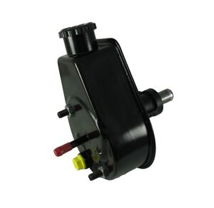 Borgeson P/S Pump; 75-91 Jeep; Saginaw Self Contained Style; Black Reservoir