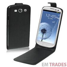 Leder Tasche Samsung Galaxy S3 Flip Case Schutz Hülle Cover Schwarz i9300   059