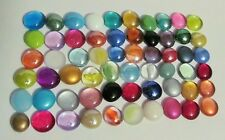 """Mancala Game """"Replacement Glass Stones"""" Assorted Colors - 60 Glass Gems Differen"""
