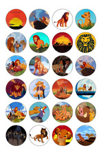 24 x Large Lion King Edible Cupcake Toppers Birthday Party Cake Decoration