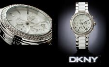 DKNY LADIES LUXURY WHITE CERAMIC COLLECTION WATCH NY8181
