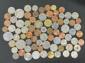 Lot of 10 Oz Foreign coins collection mixed countries dates More Than 75 Coins