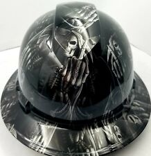 Hard Hat Custom Hydro Dipped Osha Approved Full Brim Ftw Grim Reaper Up Yours