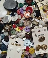 Mixed Lot Sewing Craft VTG Retro Colors Oversized Shapes Nautical Buttons 15oz