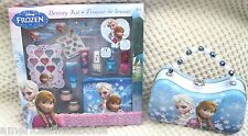 Disney Frozen Anna & Elsa Scoop All in One Tin Purse + 25 Piece Beauty Kit-New!