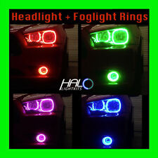 2011-2014 ORACLE DODGE CHARGER COLORSHIFT LED HEADLIGHT+FOG HALO RINGS KIT