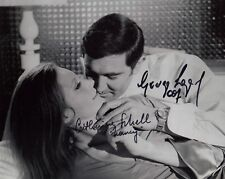 GEORGE LAZENBY & CATHERINE SCHELL SIGNED IN PERSON PHOTO