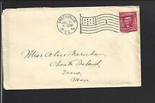 GREENVILLE, SOUTH CAROLINA 1904 COVER VF FLAG MACHINE CL, GREENVILLE CO. 1795/OP