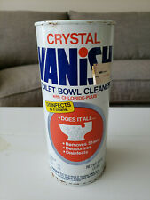 Vintage 1980 Vanish Crystal Toilet Bowl Cleaner Can 48 oz Drackett Products Co.