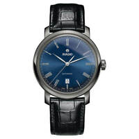 Rado Men's Watch DiaMaster Automatic Blue Dial Leather Strap R14806206