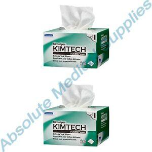 "*2-Packs* Kimberly-Clark Kimwipes Kimtech Delicate Task 4.4"" x 8.4"" Wipers 34120"