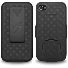 Hard Black Swivel Belt Clip Shell Holster Case KickStand for Apple iPhone 4 4S