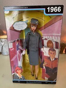 2009 MY FAVORITE CAREER BARBIE 1966 REPRODUCTION PAN AMERICAN AIRWAYS STEWARDESS