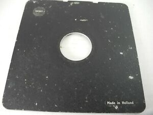 Cambo Large Format Lens Board - VINTAGE 16x16 mm 6 3/8ths x 6 3/8ths inches