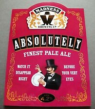 MADNESS - ABSOLUTELY BEER - PUMP CLIP - OBLONG SHAPE - SUGGS TWO 2 TONE SKA CD