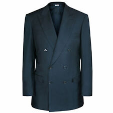 BRIONI $4,700 double breasted navy Flaminio sportcoat blazer jacket 56/66 L NEW