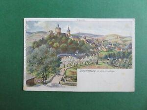 Ak Schwarzenberg, Künstlerpostkarte, 1907 gelaufen