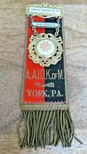 VICTORIAN MASONIC KNIGHTS TEMPLAR MEMBERS RIBBON & JEWEL - SANDLANDS  (19A)