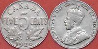 Fine 1926 Canada Near 6 5 Cents