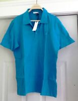 Versace Collection Azure Blue Medusa Patch Polo – Size 2XL – NWT