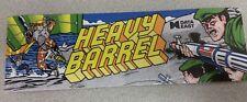 Heavy Barrel arcade marquee sticker. 3 x 10. (Buy 3 stickers, GET ONE FREE!)